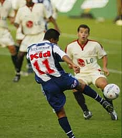 Quinteros pone el tercer gol blanquiazul