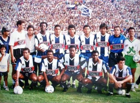 Arriba: Reyes, Sanjinez, Ruiz, Guido, Valenciay Fuentes. Abajo: Rosinaldo, Gonzáles, Basombrío, Villazán y León.